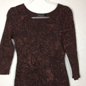Peruvian Connection Long Sweater Dress Brown M